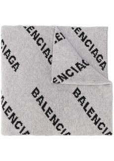 Balenciaga intarsia logo oversized scarf