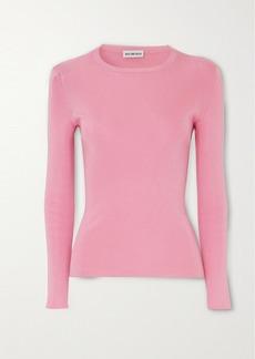 Balenciaga Intarsia Ribbed-knit Sweater