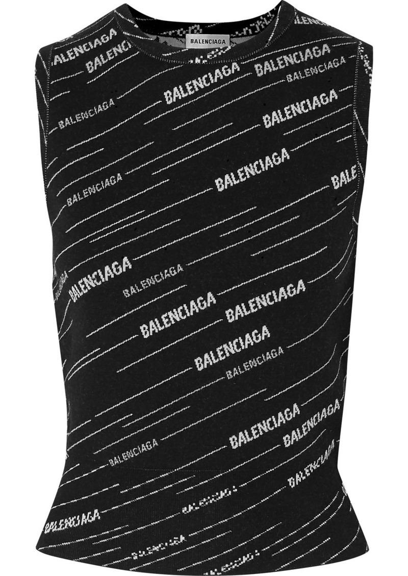 Balenciaga Intarsia Wool-blend Tank