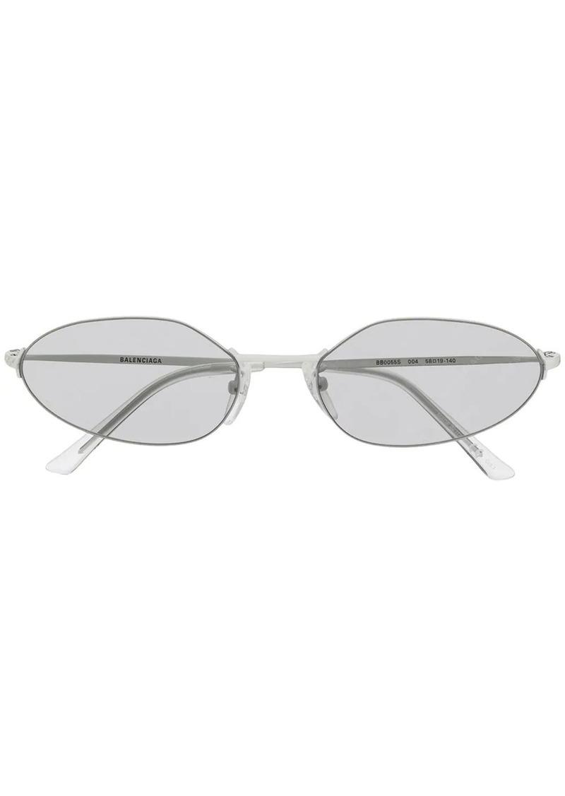 Balenciaga invisible oval sunglasses