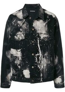 Balenciaga paint stain denim jacket