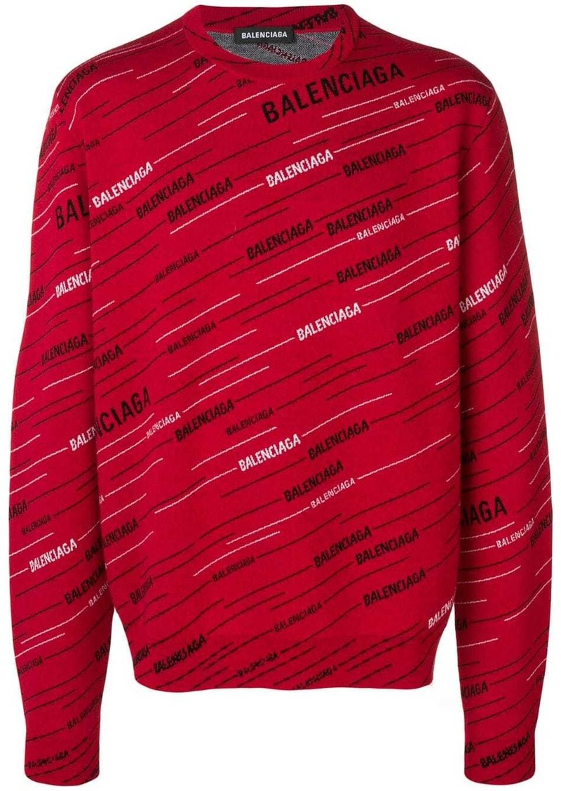 Balenciaga jacquard logo jumper