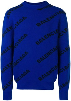 Balenciaga jacquard logo sweater