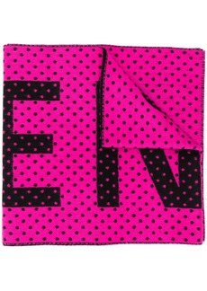 Balenciaga jacquard polka dot logo scarf