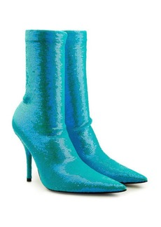 Balenciaga Knife Sequin Ankle Boots