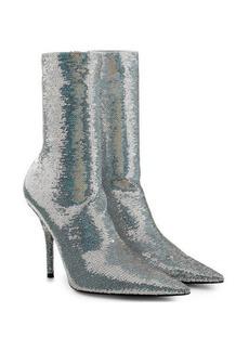 Balenciaga Knife Sequin Ankle Boots