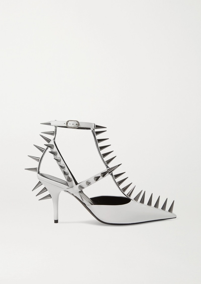 Balenciaga Knife Spiked Leather Pumps