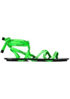Balenciaga lace flat sandals