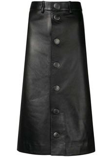 Balenciaga lambskin pencil skirt