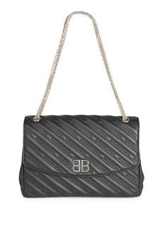 Balenciaga Large Chaine Lock Round Handbag