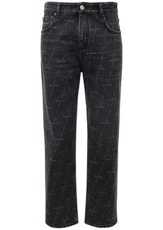 Balenciaga Lasered Logo Organic Denim Jeans