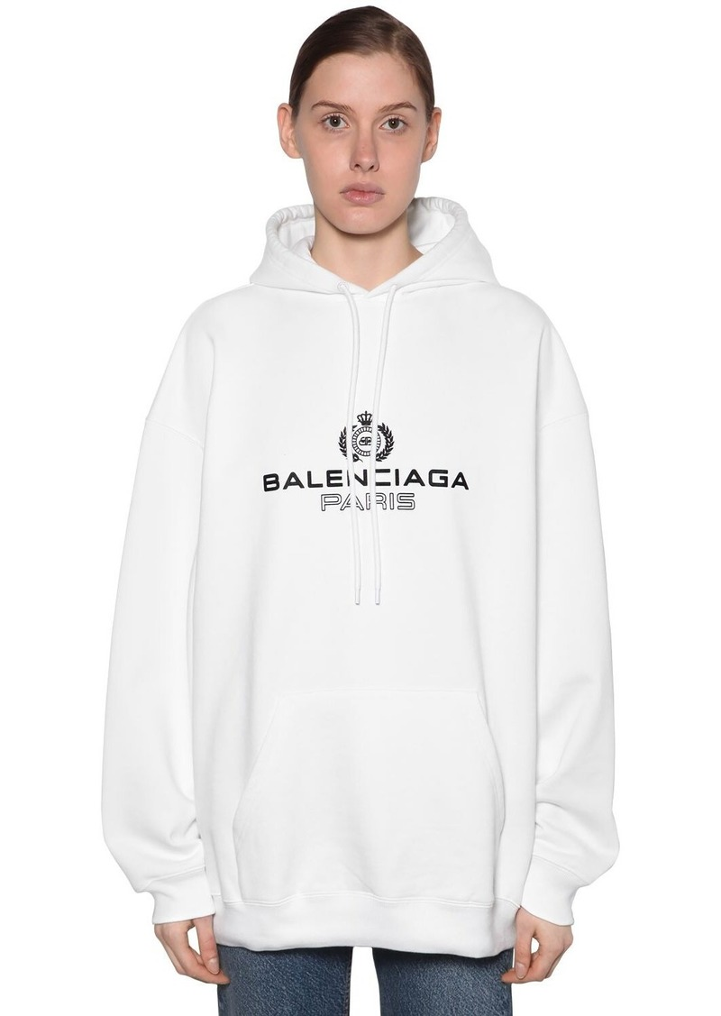 Balenciaga Laurel Logo Print Sweatshirt Hoodie