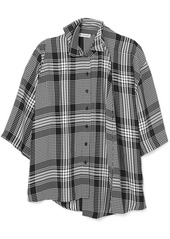 Balenciaga Layered Checked Poplin Shirt