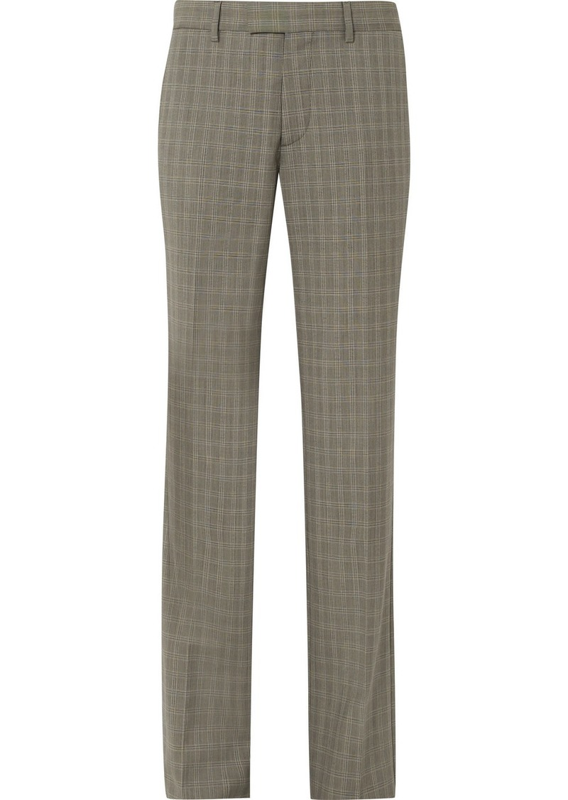 Balenciaga Le Monsieur Checked Wool And Mohair-blend Straight-leg Pants