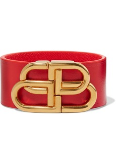 Balenciaga Leather And Gold-tone Bracelet