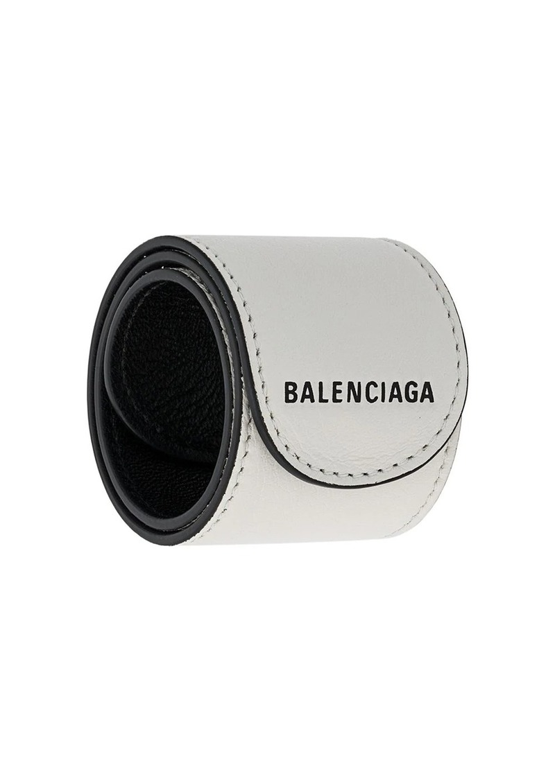 Balenciaga leather snap bracelet