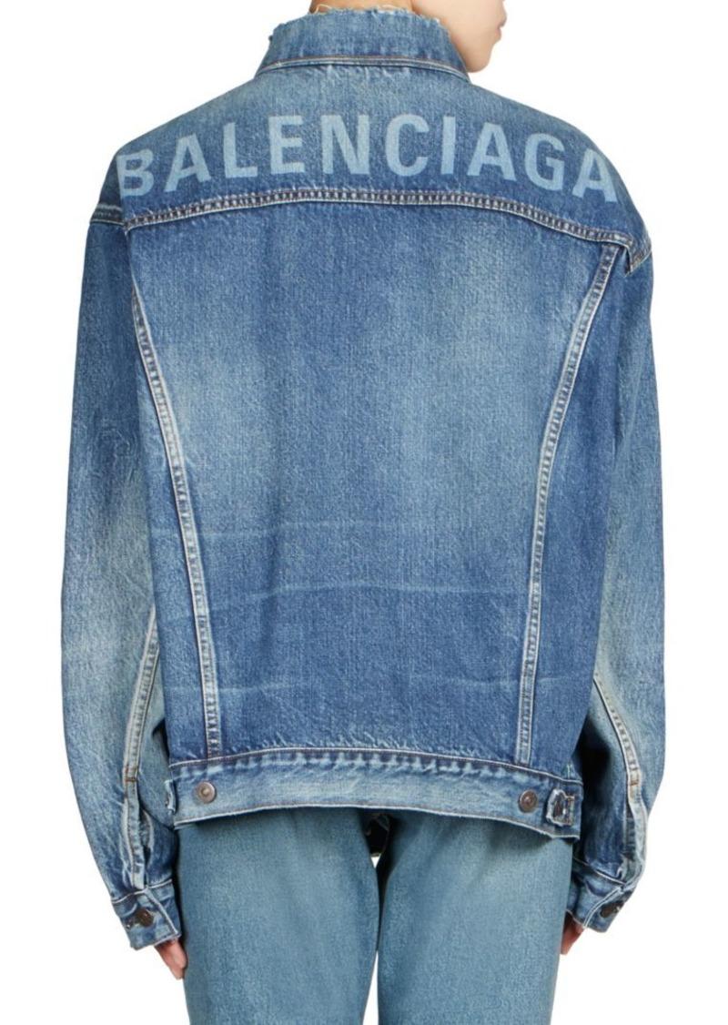 7b4f2305fc9 Balenciaga Like a Man Oversized Denim Jacket | Outerwear