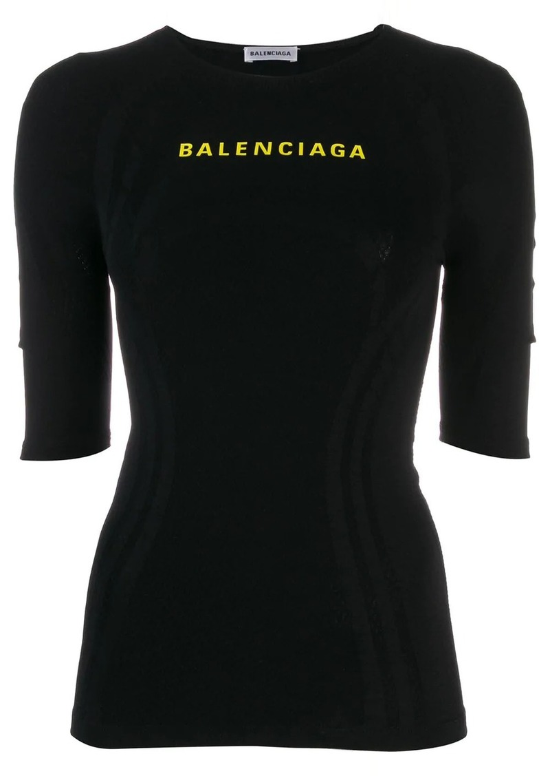 Balenciaga logo athletic top
