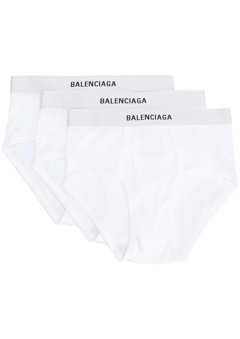 Balenciaga logo briefs set