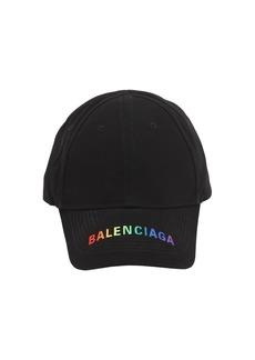 Balenciaga Logo Cotton Gabardine Baseball Hat