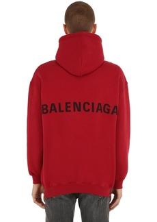 Balenciaga Logo Cotton Sweatshirt Hoodie