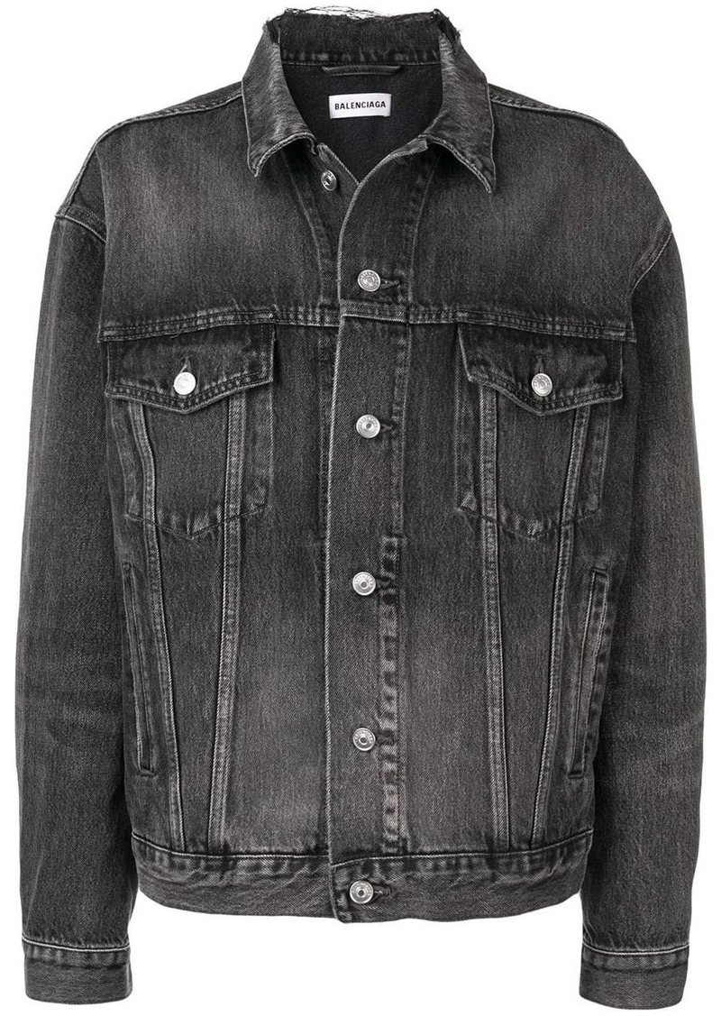 Balenciaga logo denim jacket