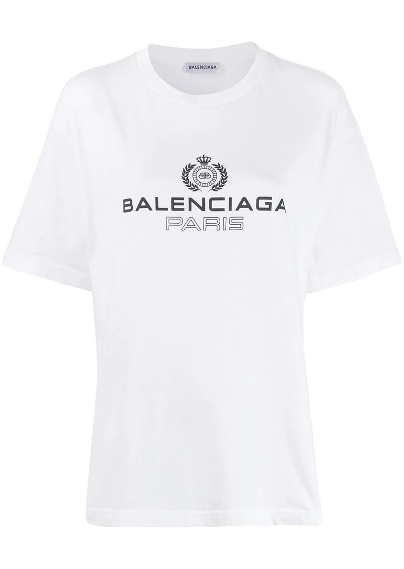Balenciaga logo embroidered T-shirt