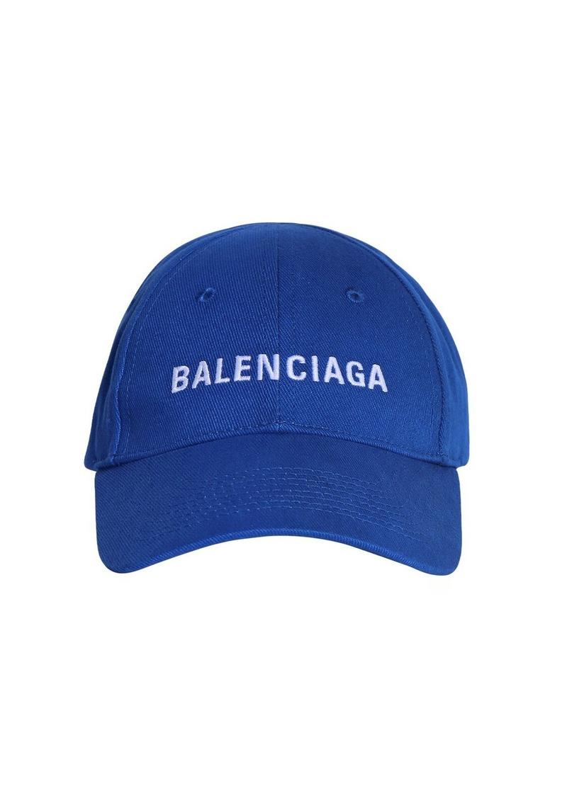 Balenciaga Logo Embroidery Bio Cotton Baseball Cap