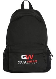 Balenciaga Logo Gym Embroidery Nylon Backpack