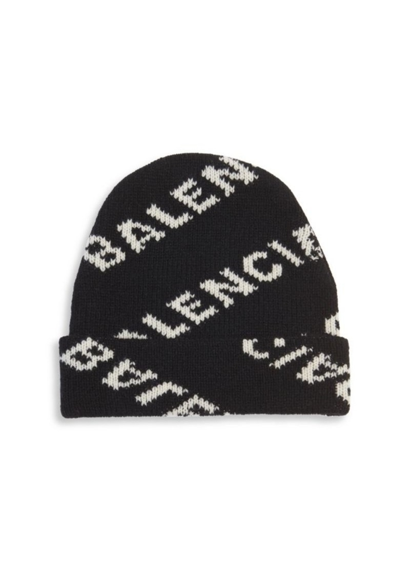 e054acfb Balenciaga Logo Jacquard Beanie | Misc Accessories