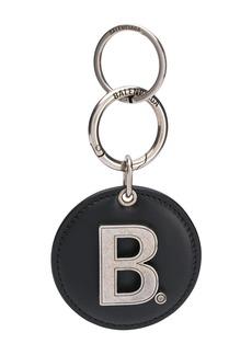 Balenciaga logo mirrored keyring