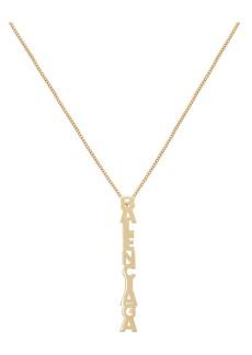 Balenciaga Logo Pendent Necklace