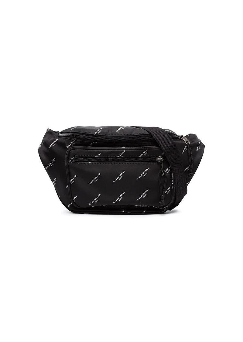 Balenciaga logo print cross-body bag