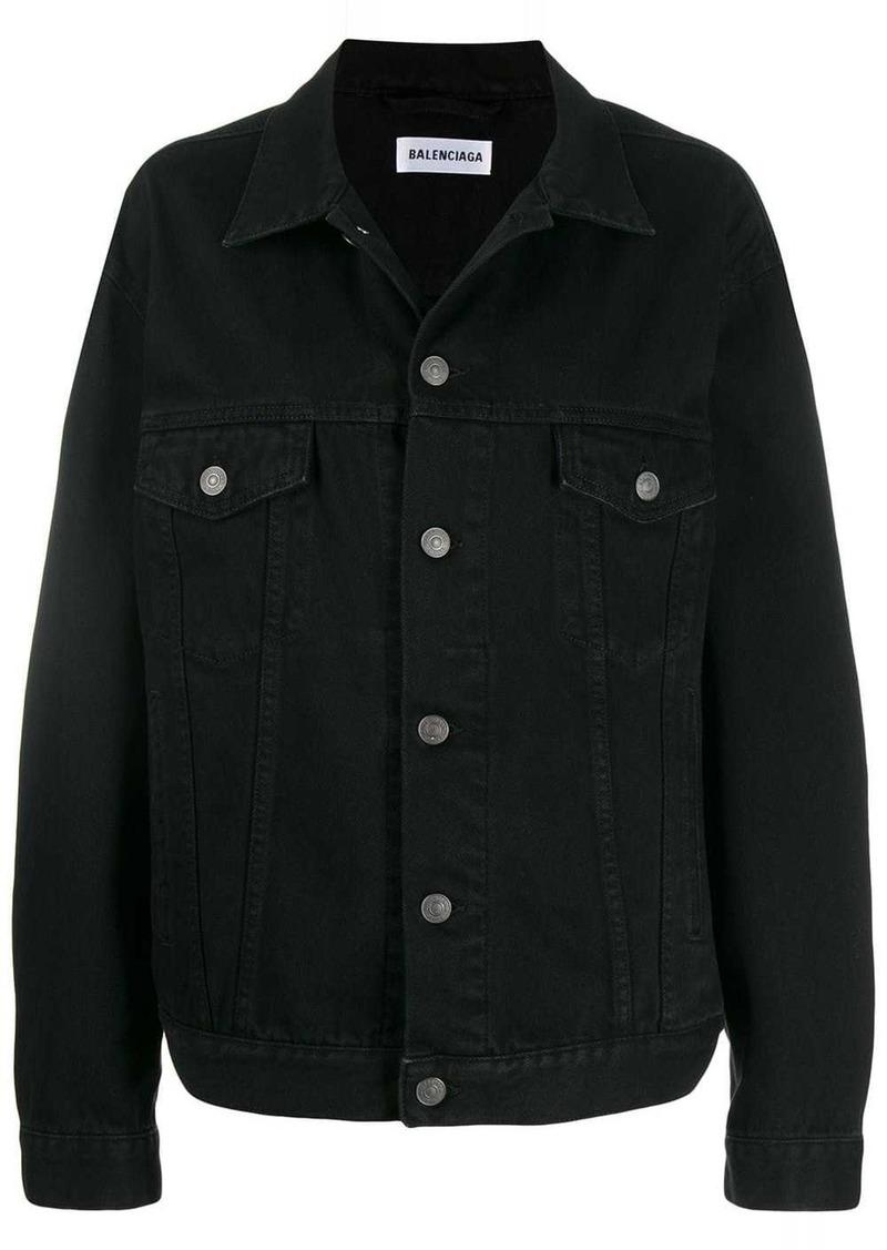 Balenciaga logo print denim jacket