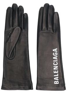 Balenciaga logo print gloves