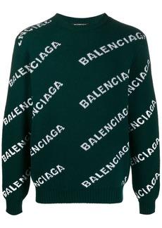 Balenciaga logo intarsia jumper