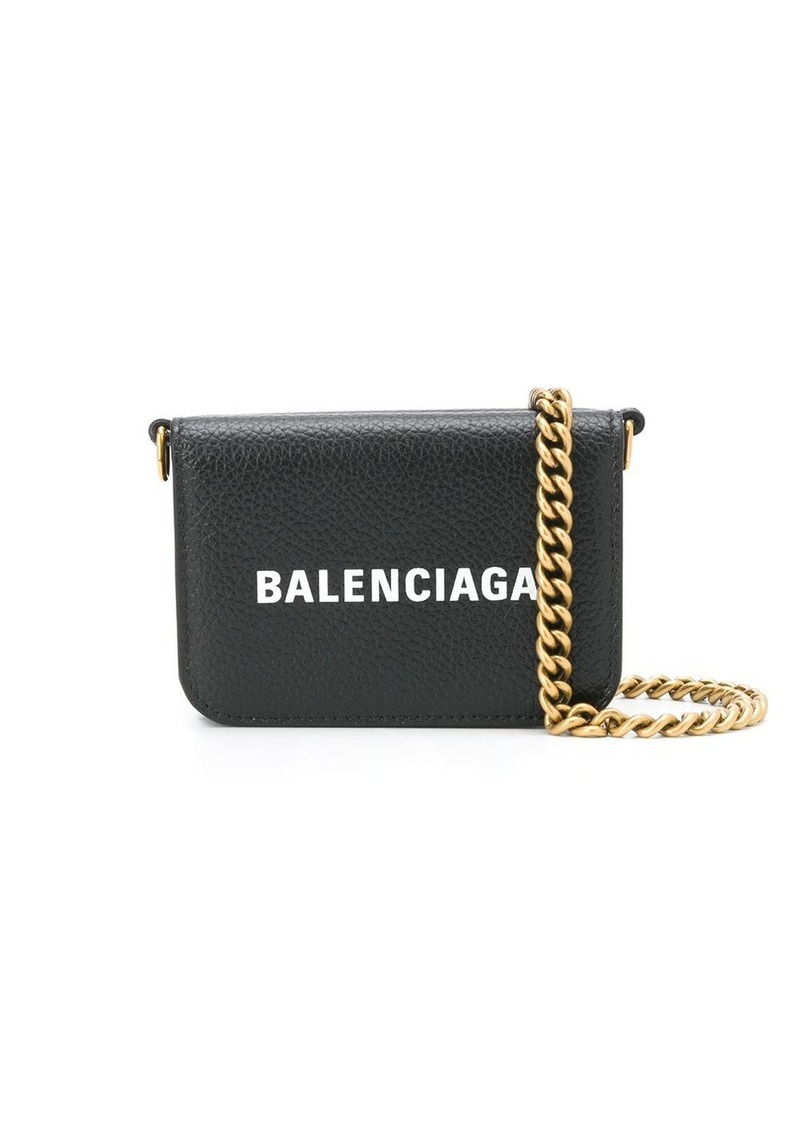 Balenciaga logo print mini wallet
