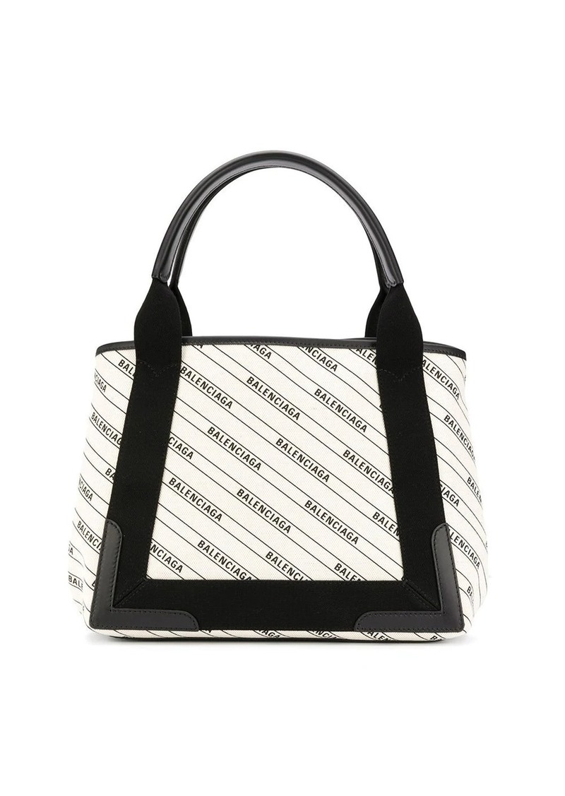 Balenciaga logo print shopping bag