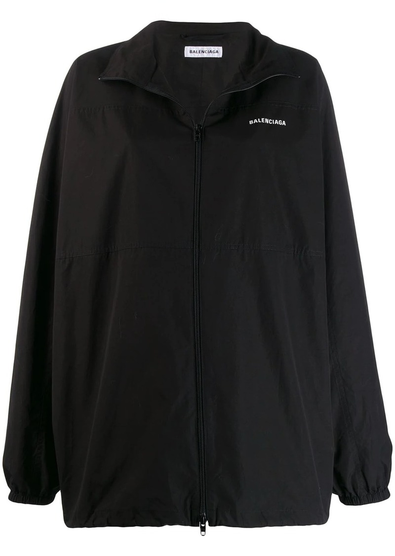 Balenciaga logo print zip-up jacket