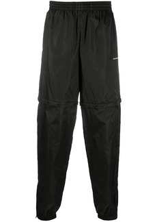 Balenciaga logo print zipped track pants