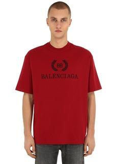 Balenciaga Logo Printed Cotton Jersey T-shirt