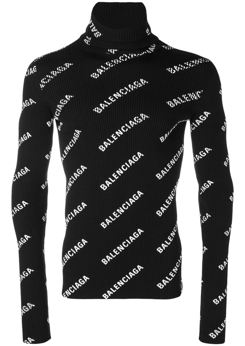 Balenciaga logo printed jumper