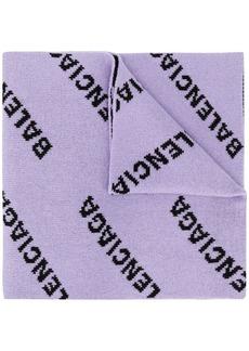 Balenciaga jacquard logo scarf