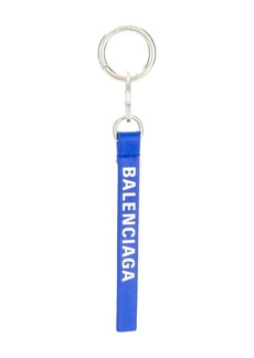 Balenciaga logo stripe keyring