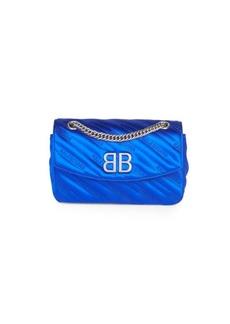 Balenciaga BB Logo Satin Crossbody Bag