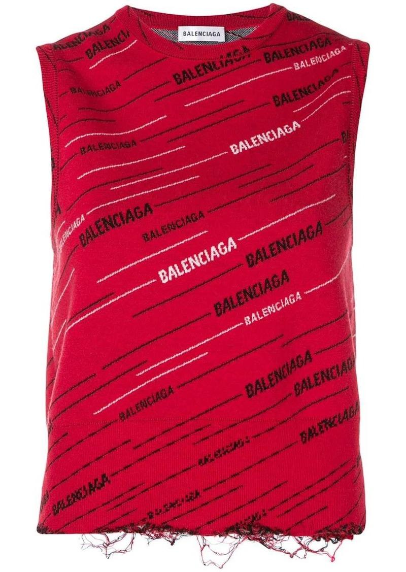 Balenciaga logo tank top