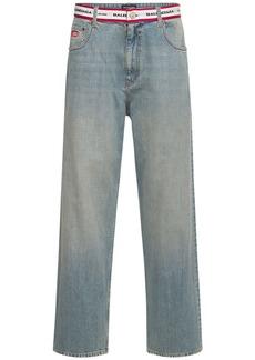 Balenciaga Logo Twill Waistband Denim Jeans