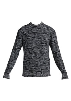 Balenciaga Logo Virgin Wool-Blend Crew Sweater