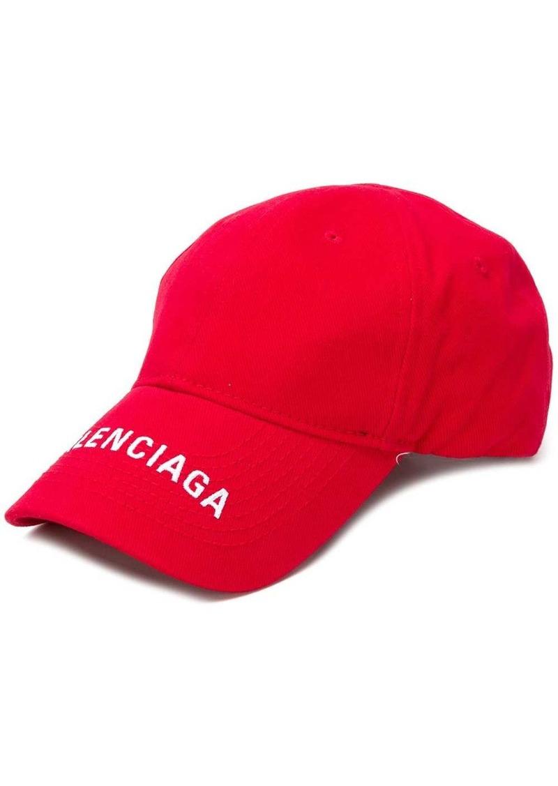 Balenciaga logo visor cap