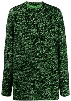Balenciaga long sleeve crew neck sweater
